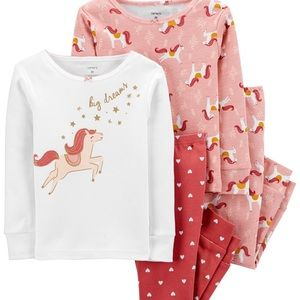 Carter's Baby Girl 4-Piece Horse Snug Fit Cotton